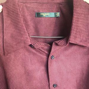 Tom James brushed suede plaid shirt